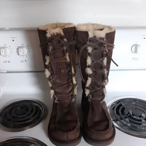 uggs tall lace up boots